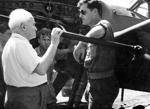 David Ben-Gurion with Pilot Modi Alon