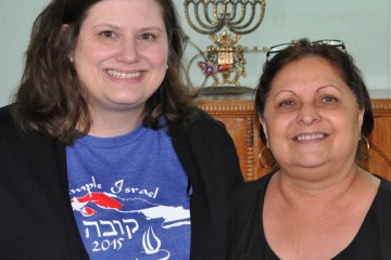 Temple Israel Rabbi/Educator Karen Bodney-Halasz (L) with Dr. Mayra Levy, president of the Sephardic Center in Havana