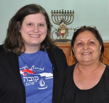 Temple Israel Rabbi/Educator Karen Bodney-Halasz (L) with Dr. Mayra Levy, president of the Sephardic Center in Havana