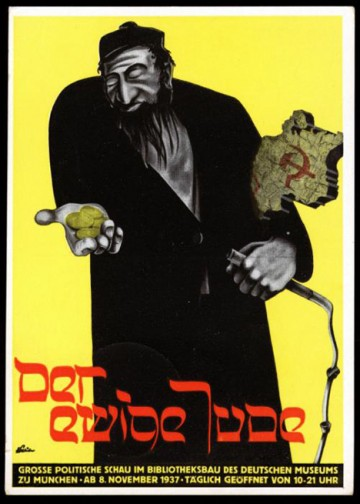 Poster for The Eternal Jew, an antisemitic Nazi propaganda exhibition in Munich, 1937