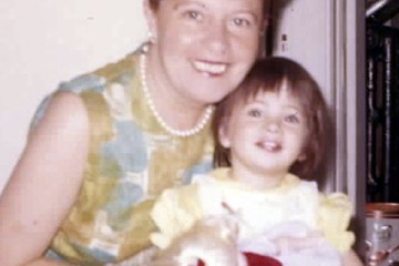 Two-year-old Dawn Lerman with Grandma Beauty
