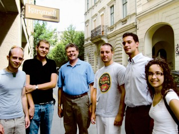 Mission Chair Irvin Moscowitz met with young adults in Budapest's Jewish community in 2009, when Partnership2Gether with Israel established its revitalization program there, through the Jewish Agency
