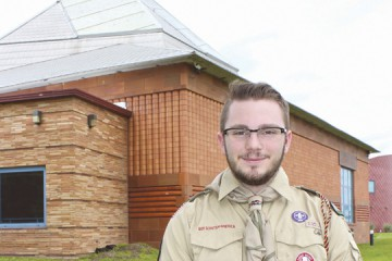 Temple Israel congregant Lake Miller, 18 of Yellow Springs, is establishing an LGBT-friendly Cub Scout Pack at Temple Israel. Photo: Marshall Weiss.
