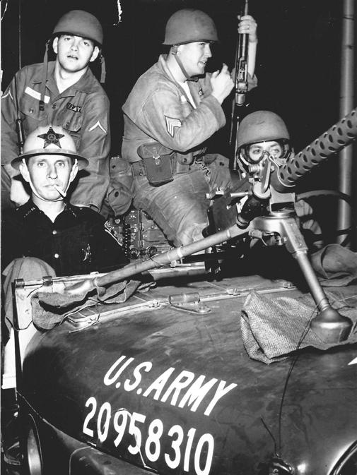 National Guard in Dayton, September 1966. Dayton Daily News Archive, Wright State Univ.