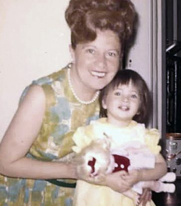 A young Dawn Lerman with her grandmother, Beauty