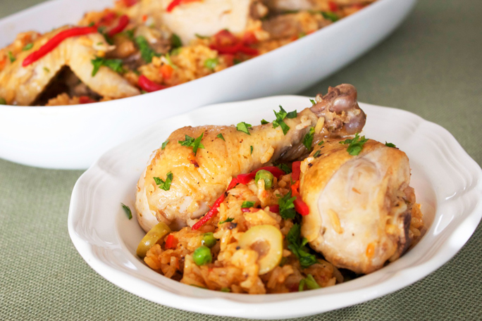 Cuban-Style Arroz Con Pollo, chicken and rice