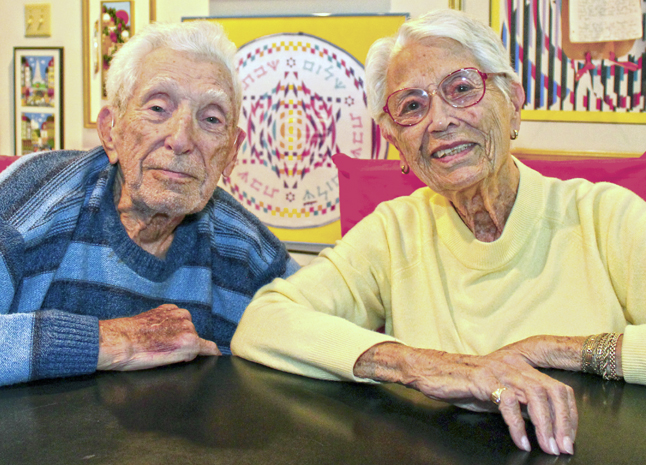 Ray and Marilyn Schneider have been members of Temple Sholom since they arrived in Springfield in 1951. Photo: Marshall Weiss