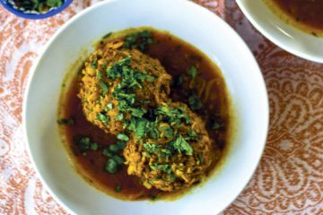 Koofteh (Persian Meatballs) in Tomato Turmeric Broth