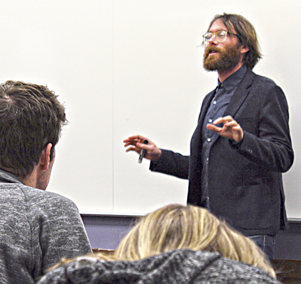 Asst. Prof. of Religious Studies Dr. Dustin Atlas was hired last summer to expand UD's Judaic studies classes. Photo: Marshall Weiss