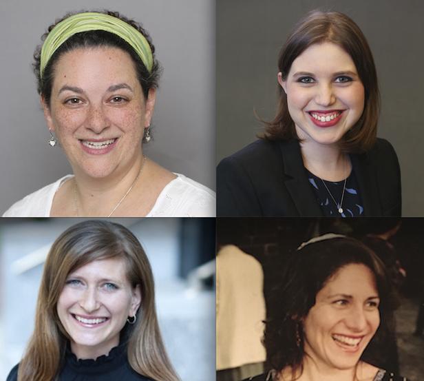 Top: Rabbi Ilana Garber (L) and Maharat Dasi Fruchter. Bottom: Rabbi Leora Kaye (L) and Rabbi Margot Stein.