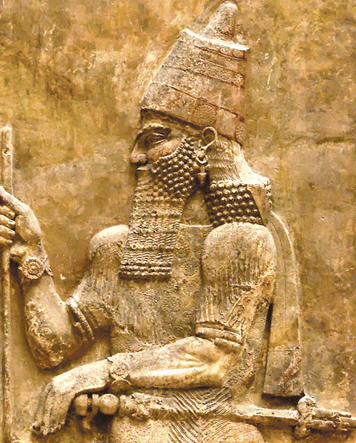 Relief of Assyrian King Sargon II at ancient Dur Sharrukin, Khorsabad, Iraq