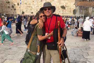 Diann and Richard Bromberg at the Western Wall, Jerusalem during HonestReporting's May trip to Israel