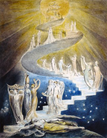Jacob's Dream by William Blake, circa 1805.