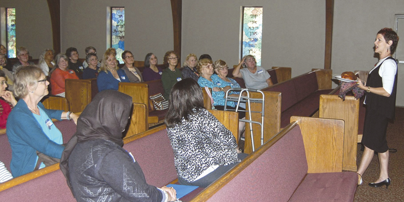 Rabbi Judy Chessin hosted a Women's Interfaith Discussion luncheon at Temple Beth Or in September. Photo: Sharon Bengel.