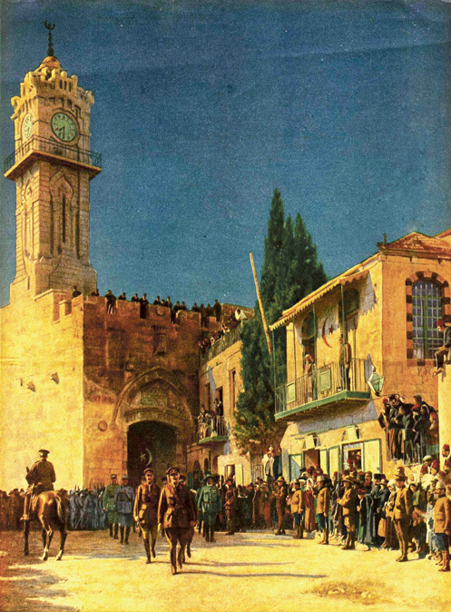 General Allenby enters Jerusalem, Dec. 11, 1917. The Tower of David Museum.