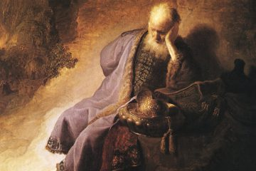 Detail of Jeremiah Lamenting the Destruction of Jerusalem by Rembrandt, 1630