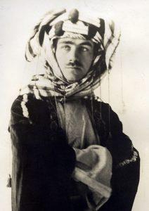 Journalist Lowell Thomas, a Darke County native, in Arabian dress. Garst Museum & Darke County Historical Society.