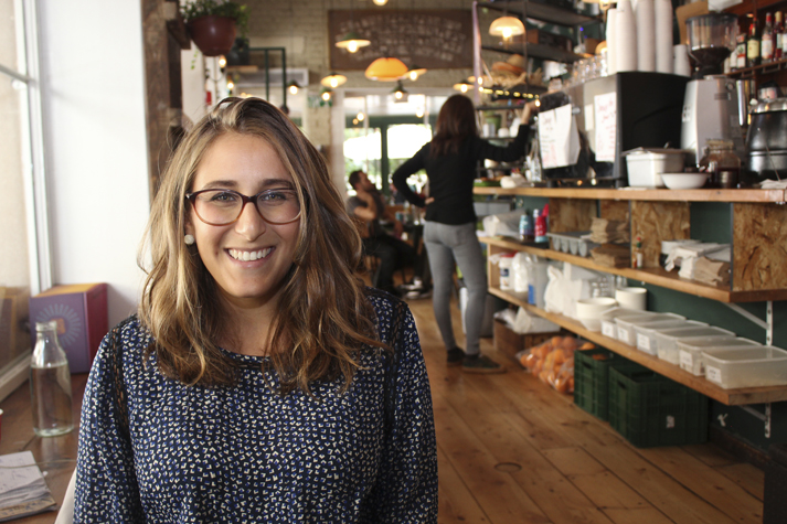 Tel Aviv-based Sara Klaben Avrahami, 30, freelances for a startup and is launching one of her own. She often works from cafés in her neighborhood.