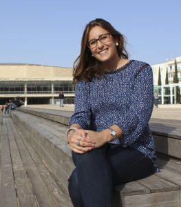 Sara Klaben Avrahami at the Bronfman Auditorium in Tel Aviv