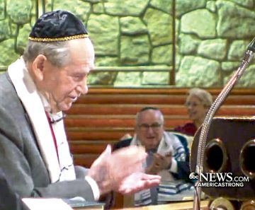 Survivor Sam Heider's Bar Mitzvah at Beth Jacob was covered by ABC News.