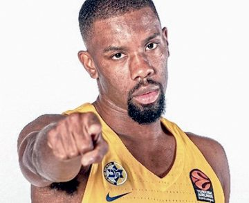 Norris Cole in his Maccabi Tel Aviv uniform. Photo: Maccabi Tel Aviv.