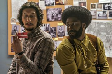 Adam Driver and John David Washington in BlacKkKlansman. Photo: Focus Features