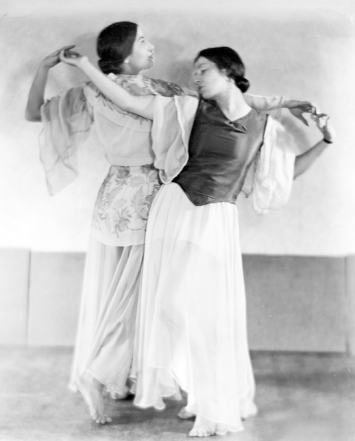 Gus Lindeman's granddaughters, sisters Josephine (L) and Hermene Schwarz, founders of the Dayton Ballet. Photo: Dayton Daily News Collection, Special Collections & Archives, Wright State University