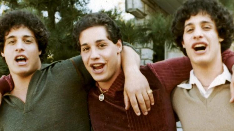 Three Identical Strangers is a documentary about triplets separated at birth by a Jewish-affiliated adoption agency in 1961. Photo: Neon.