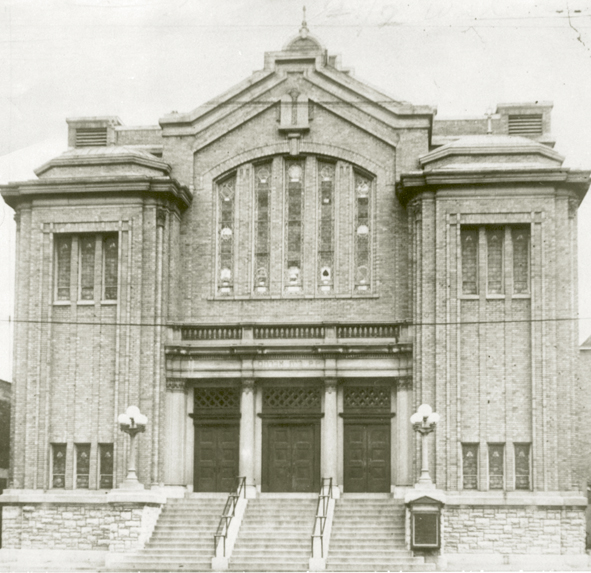 Beth Abraham Synagogue dedicated its new building at 530 S. Wayne Ave. in 1918. The building served the congregation until it moved to Dayton View in 1949. Photo: Beth Abraham.