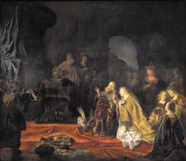 King Solomon's Idolatry by Salomon Koninck, 1644