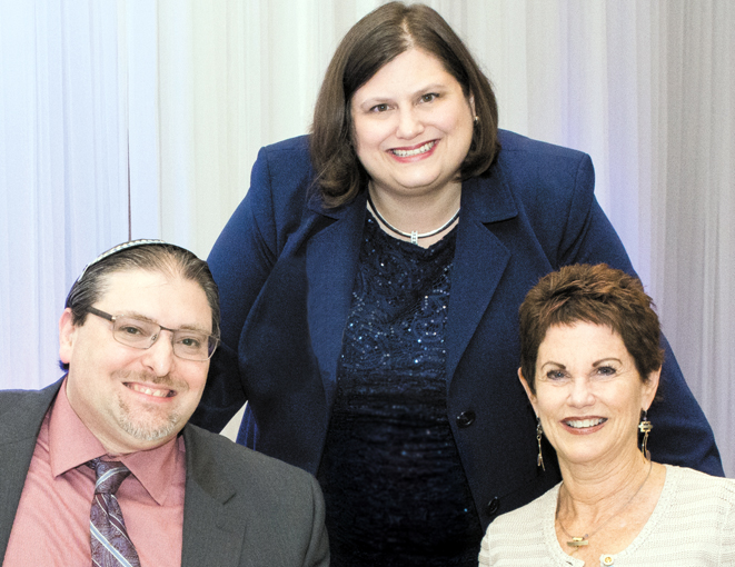 (L to R) Beth Abraham's Rabbi Joshua Ginsberg, Temple Israel's Rabbi Karen Bodney-Halasz, Temple Beth Or's Rabbi Judy Chessin. Photo: Mendy Fedotowsky.