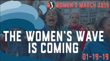 Cover photo for the Dayton Women's March Facebook event page.