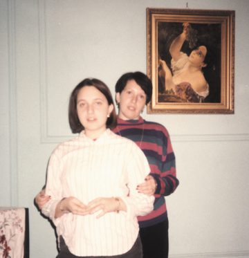 12-year-old Masha with her mother in their Chicago apartment, 1991