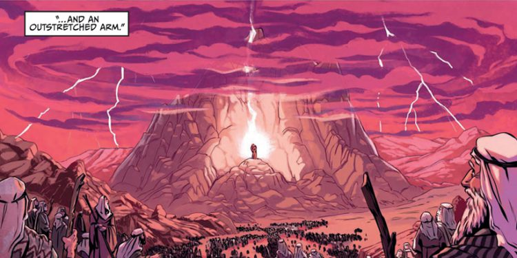 A panel from the Passover Haggadah Graphic Novel