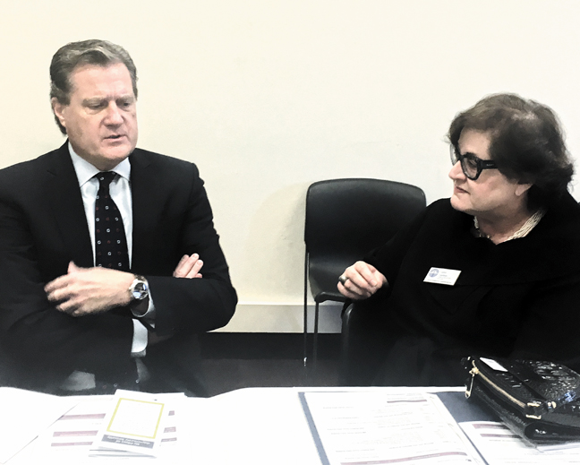 U.S. Rep. Mike Turner (R-OH) meets with Jewish Federation of Greater Dayton CEO Cathy Gardner on Capitol Hill, March 13