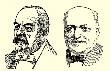 Partners Isaac Pollack (L), 1836-1908, and Sol Rauh, 1835-1915, Dayton's first wholesale liquor distributors, were noted for their Jewish and general philanthropy. Images: Cox Media Group.