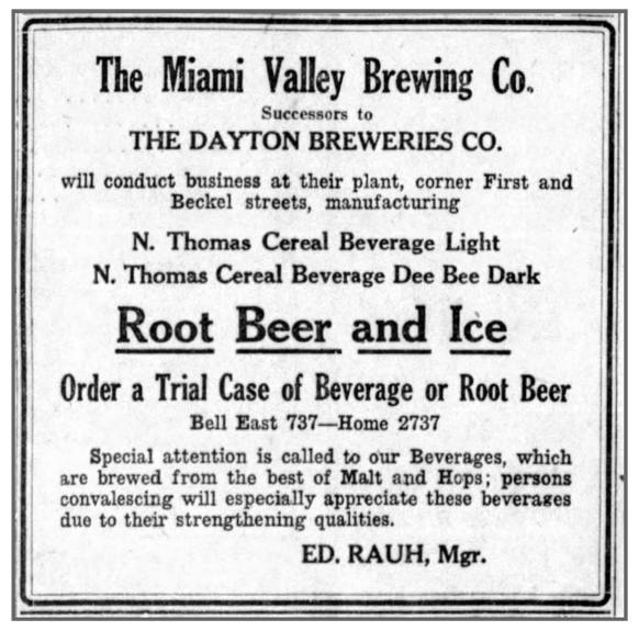 Ad from the Dayton Daily News, Aug. 14, 1923. Cox Media Group.