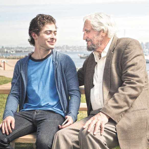 Hal Linden (R) and Ryan Ochoa in The Samuel Project. Photo: in8 Releasing.