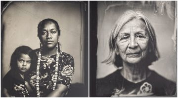 Photographer Kali Spitzer uses a process that gives her work a weathered, antique look.
